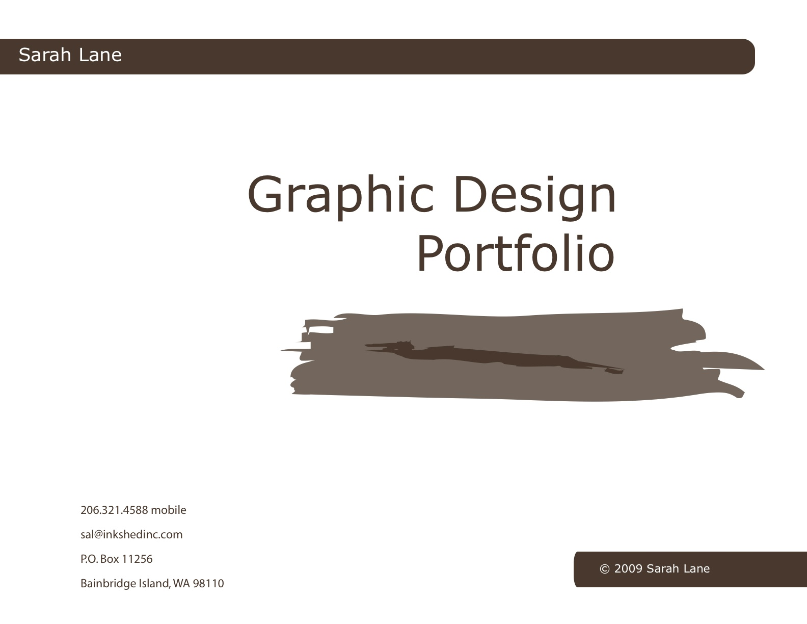 interactive pdf graphic design portfolio